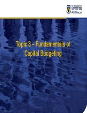 Chapter08 Fundamental of Capital budgeting