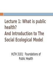 Lecture 1B-Overview of Public Health 2015