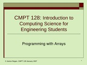 lecture16 Programming with Arrays