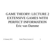GAME THEORY (2015) Lecture 2_1