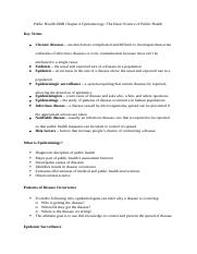Public Health 290B Chapter 4 Epidemiology Notes.docx