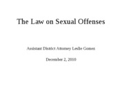 The Law on Sexual Offenses by Leslie Gomez