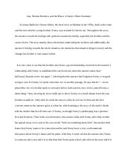 sonnys blues thesis