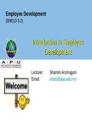 WEEK 1 Intro to employee development - Copy - Copy