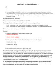 ACCT 4304 in class 1 solution (1)