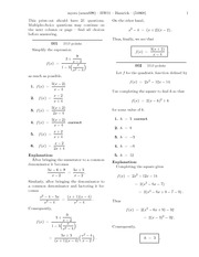 HW1 (solutions)