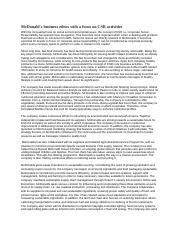 evaluation essay on mcdonalds Essays - largest database of quality sample essays and research papers on evaluation essay on mcdonalds.