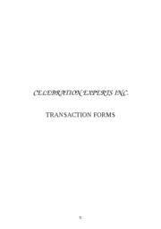 Celebration Experts Inc. (Transaction Forms)