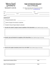 Time Extension Form