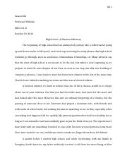 Etonnant 6 Pages Narrative Essay   High School Experience.docx