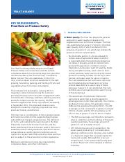 key requirements for produce safety