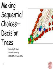 CEE 5980 Lec 7  Making Sequential Choices Decision Trees (Instructor)