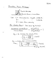 Boundary Layer Thickness notes