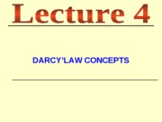 lecture 4-Darcy's Law