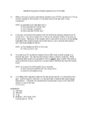 Metabolic Equations Practice Questions for cycling