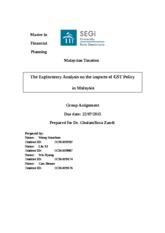 Taxation Thesis