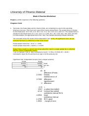 AFRED WEEK 4 PRACTICE PROBLEMS ASSIGNMENT