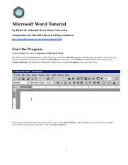 MS Word tutorial (1)