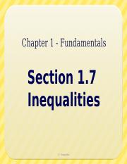 1.7 - Inequalities