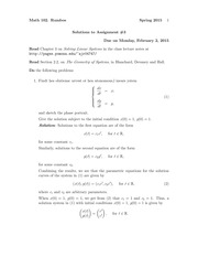 MATH 102 Spring 2015 Assignment 3 Solutions
