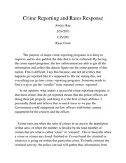 Crime Reporting and Rates Response