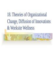 18. Org Change Diffusion & Worksite_Student_2017.pptx