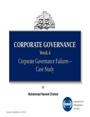 Week 4 Corporate Governance Failures - Case Study (WordCom).ppt