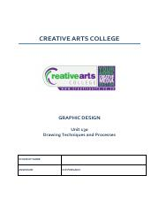 Fa1 Ideas Generation Pdf Creative Arts College Edexcel Btec Levels 4 Higher National Diploma In Art And Design Unit 2 Ideas Generation And Course Hero