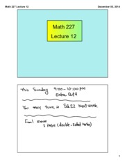 Math 227 Lecture 12