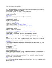 Cell Cycle Control Game Worksheet.pdf - Cell Cycle Control ...