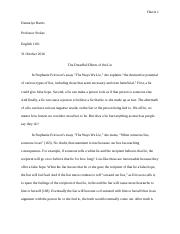 Demariye Harris lie essay
