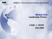 MGMT615  Leader-Manager Roles, M-1, part, Fall 09