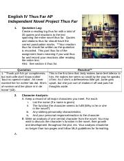 Independent Novel Project - Assignment and Guidelines .docx