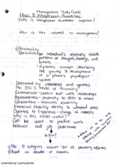 Ethics and Intrapersonal Awareness Notes