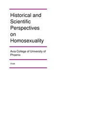 PSY 265 Week 5 Assignment Historical and Scientific Perspectives on Homosexuality