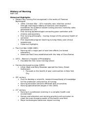 History of Nursing (lecture notes).docx
