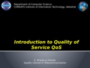 Introduction to Quality of Service QoS