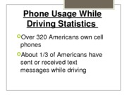 Phone Usage While Driving Statistics
