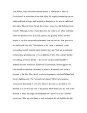 essay on edward scissorhands tim burtons edward scissorhands is 4 pages paper on the different edges of edward scissorhands