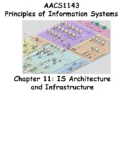 Chapter 11 IS Architecture and Infrastructure - Students 201516