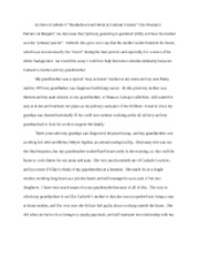 WCS Personal Essay