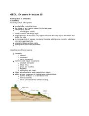 GEOL 104 week 9- lecture 25