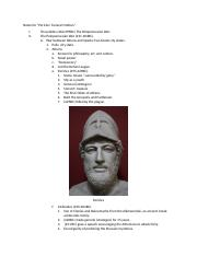 Notes for Pericles' Funeral Oration