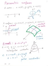 Lecture Notes on Parametric Surfaces