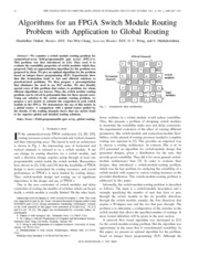 Algorithms for an FPGA switch module routing problem with application to global routing