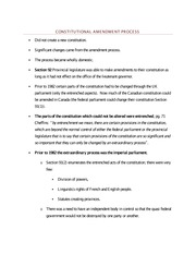 Constitutional Amendment Process - Class Note
