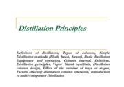 distillation-principles