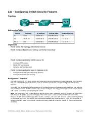 2.2.4.11 Lab - Configuring Switch Security Features.docx