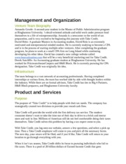 Ent 460 Management and Organization Report