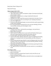 Study Guide Exam 2 Theories of Counseling
